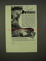 1937 Ontario Canada Tourism Ad - Come To