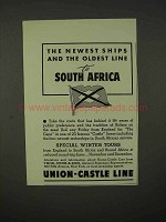1937 Union-Castle Line Cruise Ad - South Africa