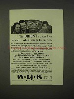 1937 NYK Line Cruise Ad - The Orient Is Yours