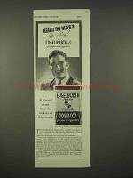 1936 Edgeworth Junior Tobacco Ad - Heard the News?