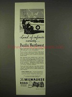 1936 Milwaukee Road Railroad Ad - Pacific Northwest