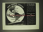 1936 Grace Line Cruise Ad - New Santa Liners