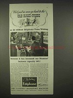 1935 Ediphone Dictating Machine Ad - Old Hand Press