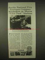 1935 Monroe Calculator Ad - Pacific National Insurance