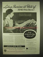 1935 Underwood Sundstrand Adding-Figuring Machine Ad