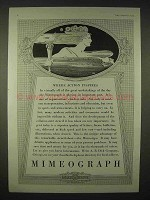 1935 Mimeograph Machine Ad - Where Action Inspires