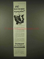 1935 Sturtevant Air Conditioning Ad - Rules the Roost