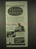 1935 Carrier Air Conditioning Ad - More Than Generation