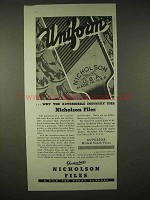 1935 Nicholson Files Ad - Uniform, Automobile Industry