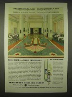 1935 Armstrong Linoleum Floor Ad - Less Noise