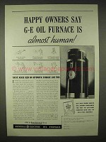 1935 General Electric Oil Furnace Ad - Almost Human