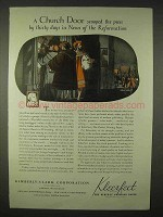 1935 Kimberly-Clark Kleerfeet Paper Ad - Church Door