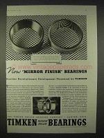 1935 Timken Bearings Ad - Now Mirror Finish