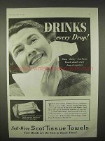 1935 Scott ScotTissue Towels Ad - Drinks Every Drop