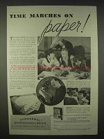 1935 Hammermill Mimeograph Paper Ad - Time Marches