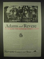 1935 Revere Copper and Brass Ad - Adams and Revere