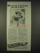 1935 Barbasol Shaving Cream Ad - Men in the Tropics Old