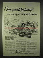 1935 Super-Shell Gasoline Ad - One Quick Getaway