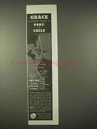 1935 Grace Line Cruise Ad - Peru and Chile
