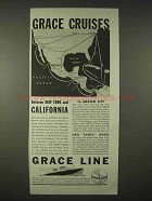 1935 Grace Line Cruise Ad - New York