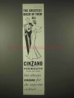 1935 Cinzano Vermouth Ad - Greatest Mixer of Them All