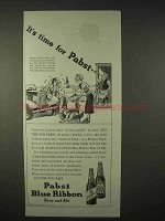 1935 Pabst Blue Ribbon Beer, Ale Ad