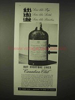 1935 Canadian Club Whisky Ad - Everyone Likes