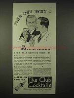 1935 Heublein Club Cocktails Ad - Find Out Why