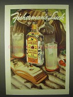 1935 Gordon's Gin Ad - Fisherman's Luck
