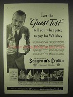1935 Seagram's Crown Whiskey Ad - The Guest Test