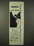 1935 Grace Line Cruise Ad - All Expense South America