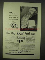 1935 American Stationery Ad - The Big 450 Package