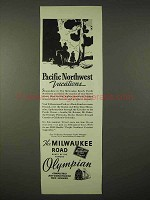 1935 Milwaukee Road Railroad Ad - Pacific Northwest