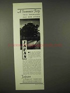 1935 Japan Tourism Ad - A Summer Trip Thousands Afford