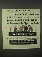 1935 Allegheny Steel Ad - Found Indispensable