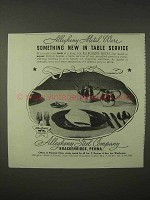 1935 Allegheny Steel Ad - New in Table Service