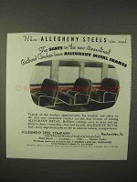 1935 Allegheny Steel Ad - Seats in Railroad Coaches