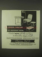 1935 Allegheny Steel Ad - Modern Furniture