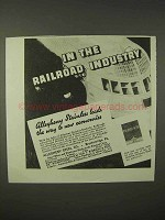 1935 Allegheny Steel Ad - In the Railroad Industry