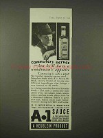 1935 A-1 Sauce Ad - Commuters Nerves