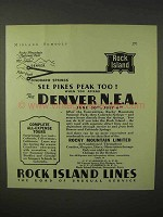 1935 Rock Island Railroad Ad - See Pikes Peak Too