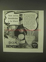 1935 D.O.M. Benedictine Ad - Serve a la Glace