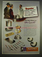 1946 Superior Steel Ad - Ideal Metal Kitchen Equipment