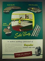 1946 Superior Steel Ad - Solid Beauty