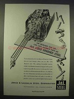 1946 J&L Cold Finished Steel Ad - Increased Tool Life