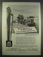 1946 J&L Cold Finished Steel Ad - For Easy Machining