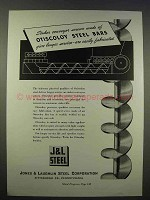 1946 Jones & Laughlin Steel Ad - Otiscoloy Steel Bars