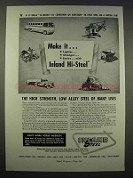 1946 Inland Hi-Steel Ad - High Strength Low Alloy