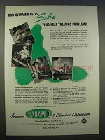 1946 American Cyanamid Ad - Solve Heat-Treating
