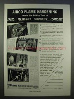 1946 Airco Flame Hardening Ad - Speed, Flexibility